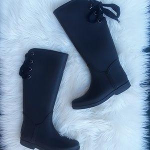 Coach black rain boots size 7